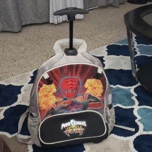 Power rangers rolling backpack
